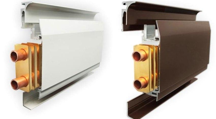 Внешне нагревательная панель виглядит как обычный напольный плинтус