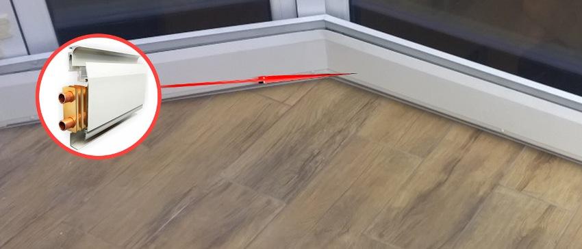 Теплый плинтус - идеальное решение для установки в комнате с панорамными окнами