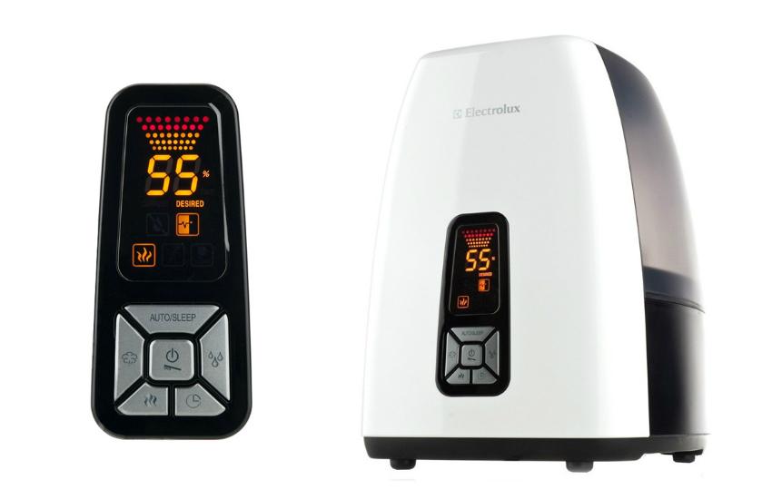 Модель Electrolux EHU-5515D имеет два режима работы: горячий и холодный пар