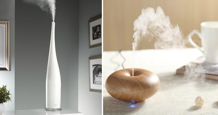 Гигрометр, встроенный в увлажнитель, позволяет контролировать показатель влажности в комнате