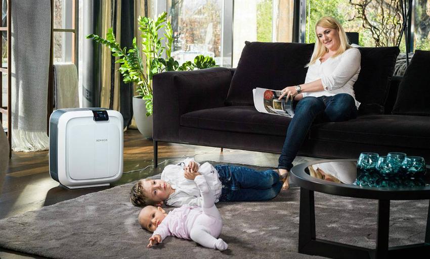 Правильно подобранный ультразвуковой увлажнитель может эффективно очищать воздух в больших помещениях