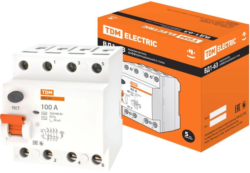Выключатель дифференциального тока TDM Electric