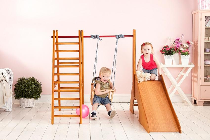 Детский спортивный комплекс должен быть изготовлен из экологичных и надежных материалов