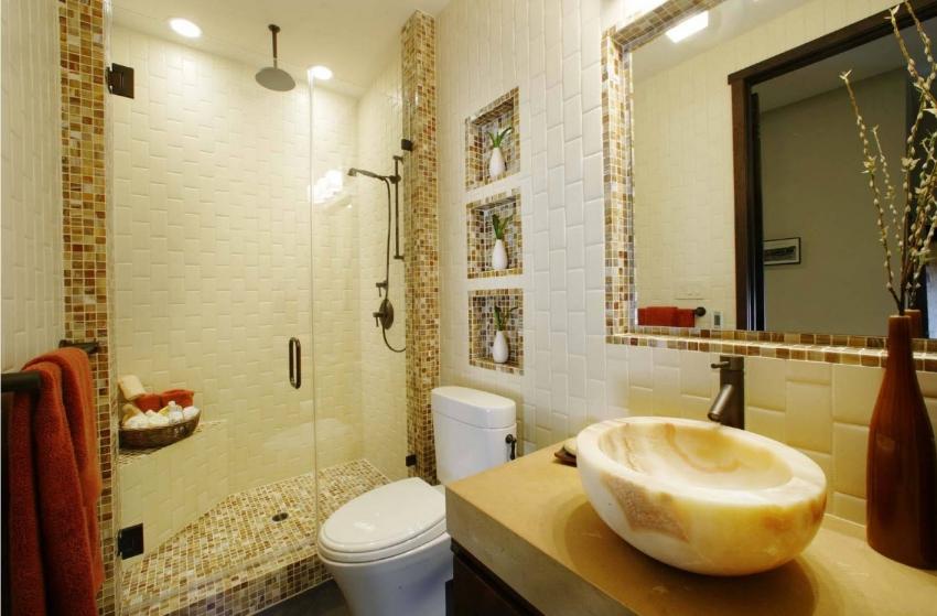 Bronze bathroom mirrors