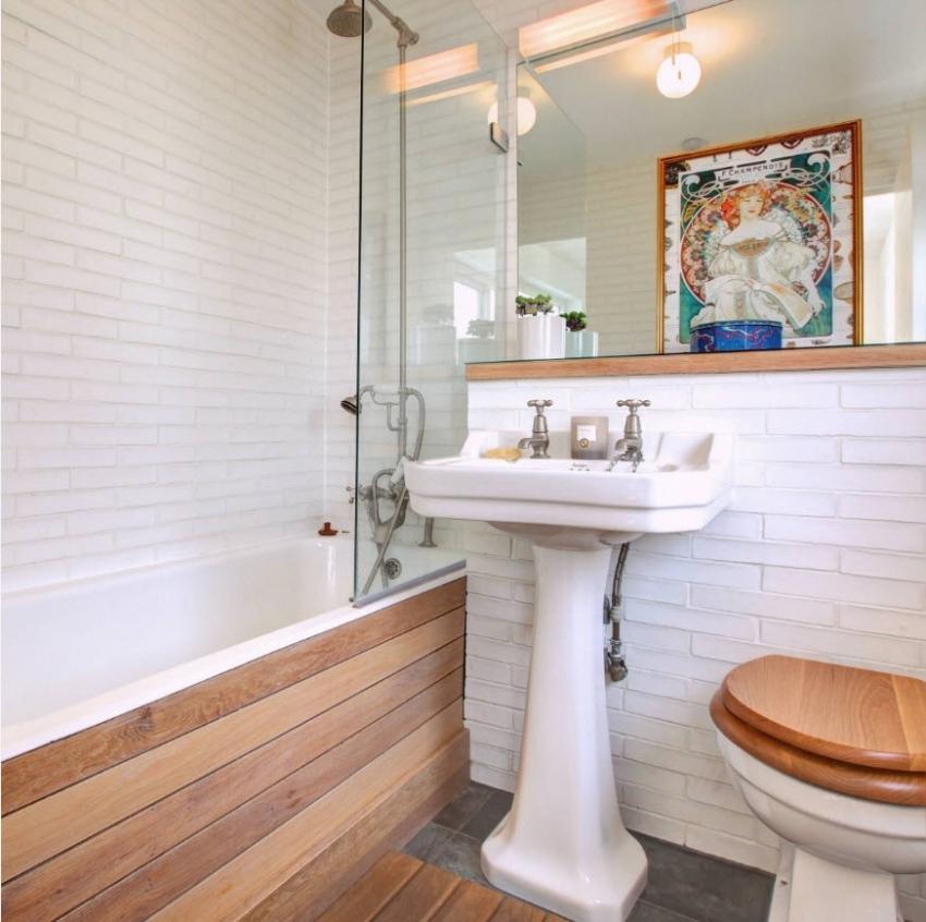 Рельефная плитка для ванной может добавить интересный акцент в интерьер