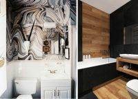 Помимо плитки, для отделки ванной комнаты можно использовать пластиковые панели