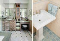 Оттенок плитки необходимо подбирать из учета цвета мебели и сантехники