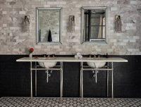 Пример отделки ванной комнаты с использованием плитки от компании Italon