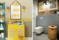 Яркие акценты и элементы декора сделают интерьер ванной комнаты красочным и уютным