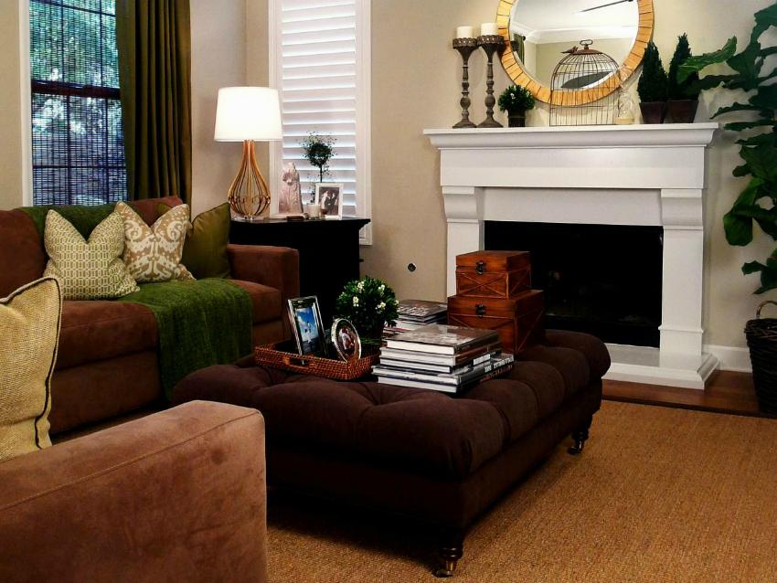 Хороший пример зонирования пространства с помощью стильной мебели