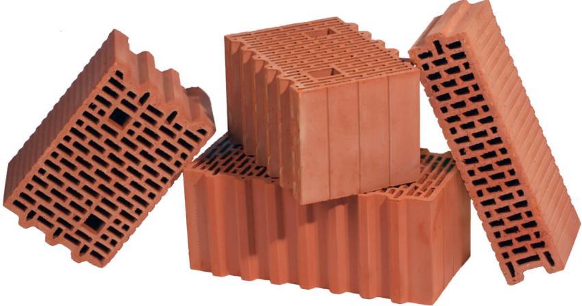 Керамические блоки могут иметь различные размеры и формы