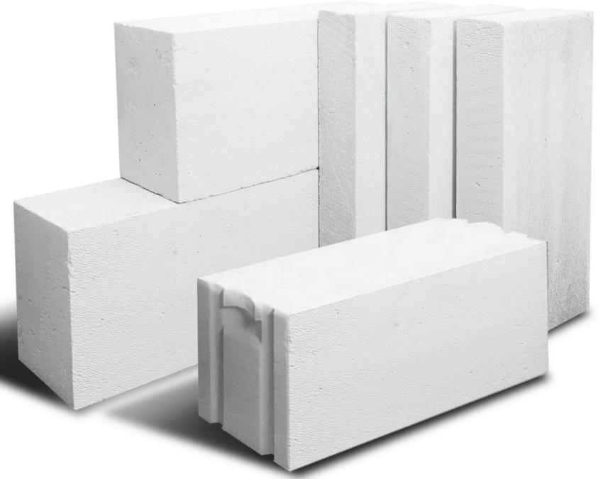 Различные размеры и формы газобетонных блоков