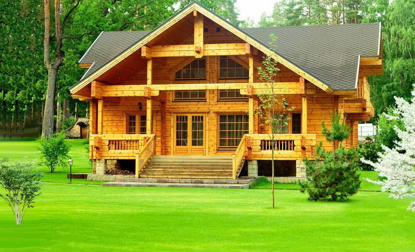 Деревянные дома выглядят очень красиво, презентабельно и уютно