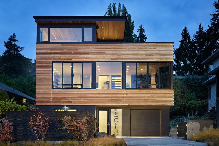 Современный коттедж из бетона и стекла