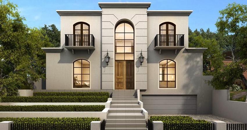 При оформлении домов в минималистском стиле часто используется светлая цветовая гамма