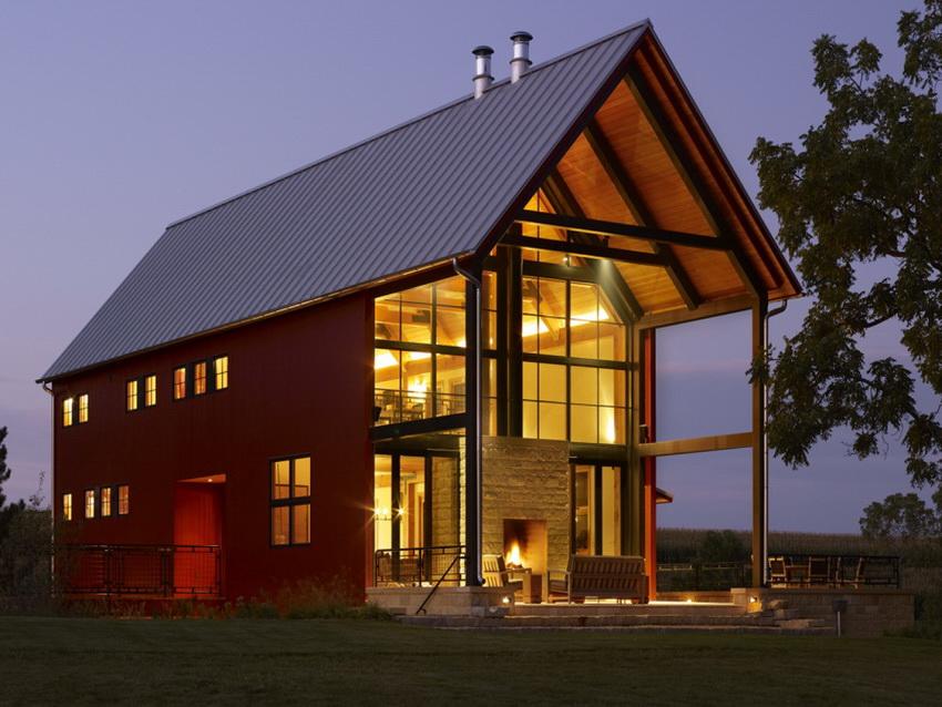 В современных домах часто сложно определить принадлежность внешнего вида здания к какому-то стилю