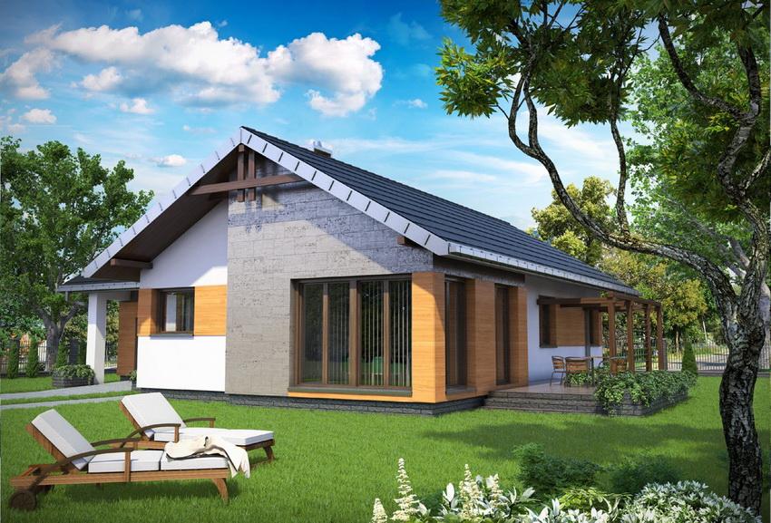 Проект недорогого каркасного загородного дома