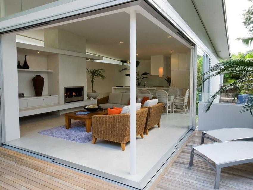 Открытая терраса для отдыха на свежем воздухе