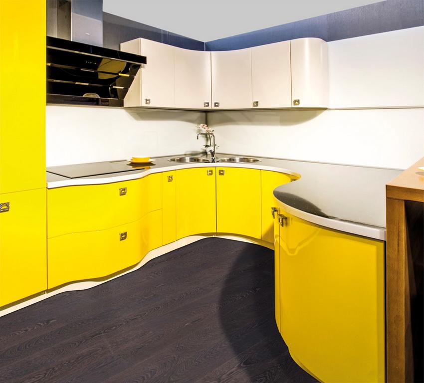 Радиусные фасады способны придать мебельным конструкциям оригинальность