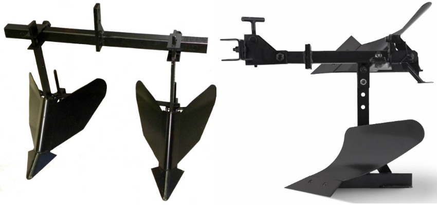 Навесное оборудование для мотоблока Нева - окучник и плуг