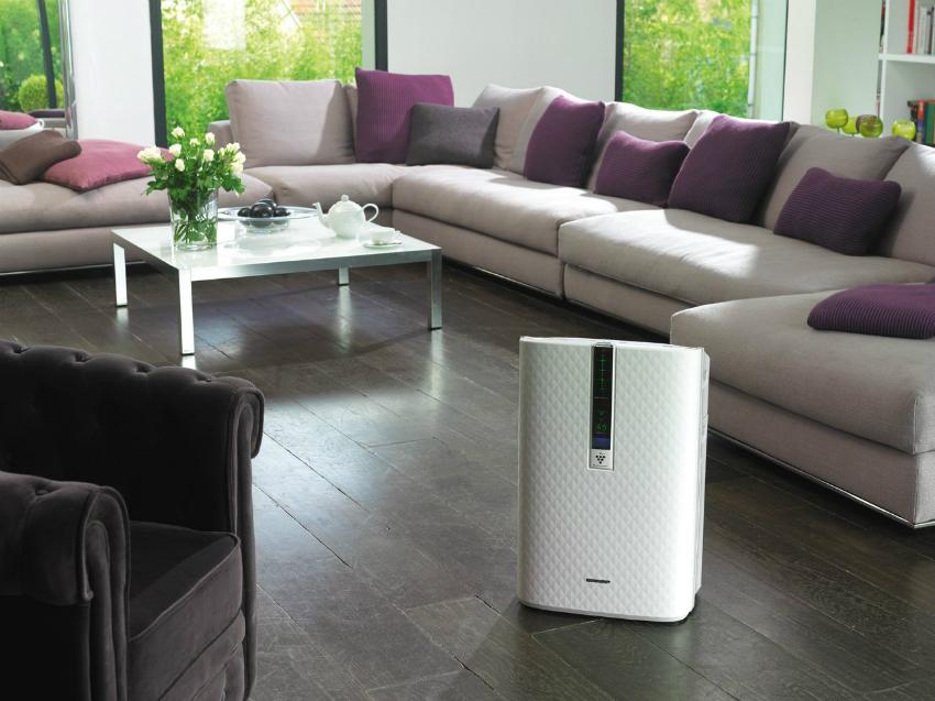 Очистители воздуха марки Sharp предназначены для работы в помещениях среднего размера
