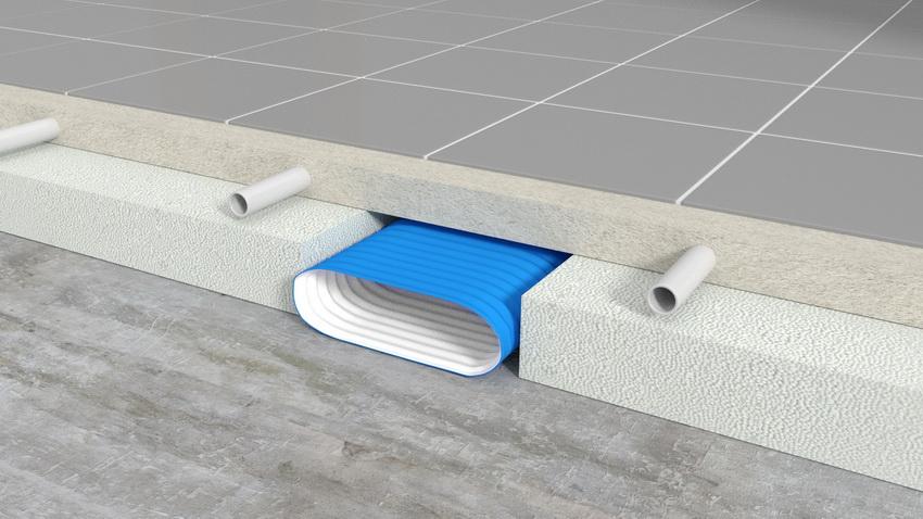Система циркуляции воздушных потоков может находиться в напольном покрытии