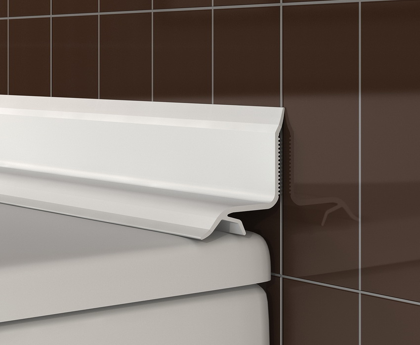 Бордюр закрывает и герметезирует стык между стеной и ванной когда стена уже облицована плиткой