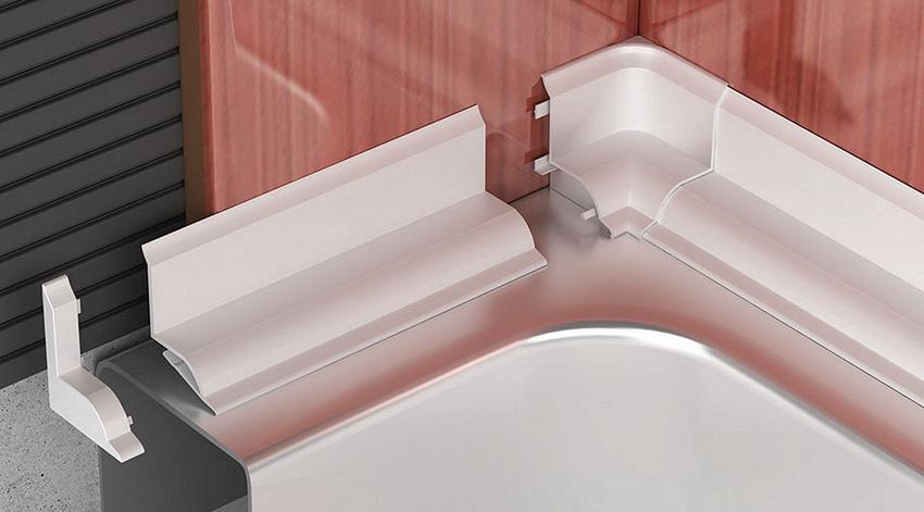 Установку пластикового бордюра для ванны можно провести самостоятельно