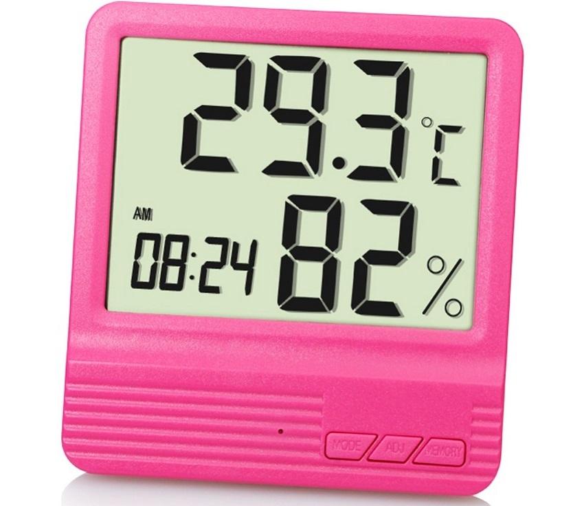 Современные приборы для измерения влажности воздуха могут так же показывать дату