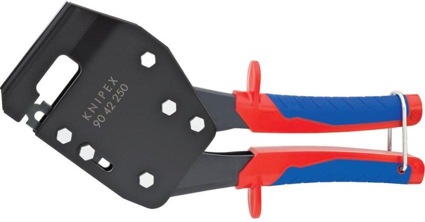 Просекатель Knipex легко справляется с металлом толщиной до 1,2 мм