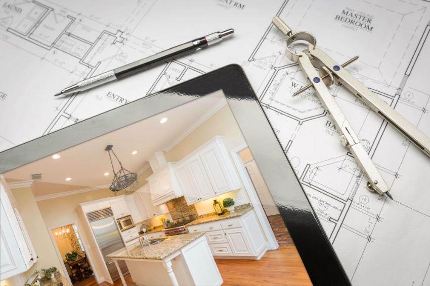 Перед началом ремонта, дизайнер разрабатывает макет будущей кухни, что поможет увидеть результат еще до начала работ