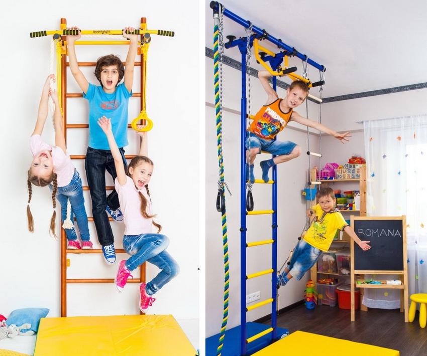 Пристенная и пристенно-распорная модель крепления шведской стенки
