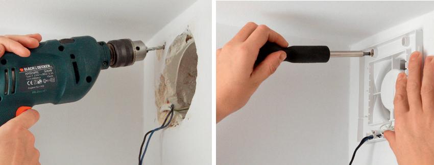 Монтаж современных вентиляторов зачастую очень прост, поэтому установку прибора можно осуществить самостоятельно