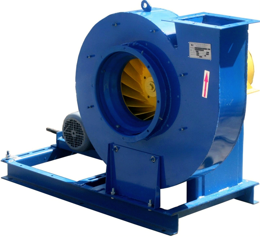 Крышный радиальный вентилятор высокого давления эффективен для быстрого вывода дыма из помещений