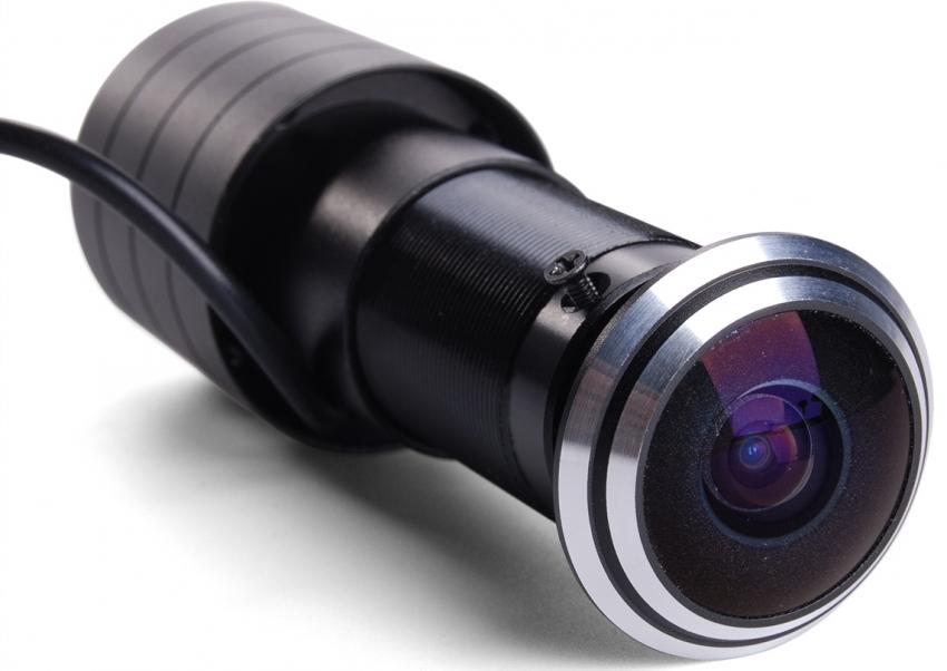 Видеоглазок оснащен качественной микрокамерой с широким углом обзора