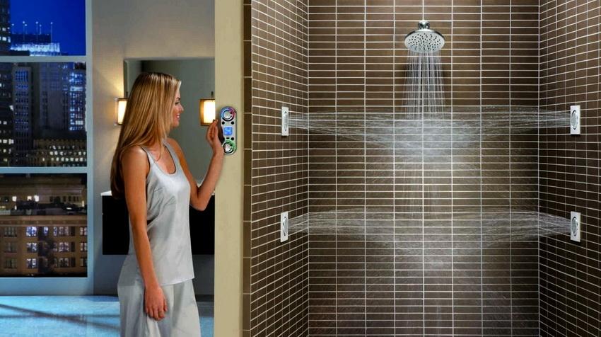 В ванной комнате, где имеется непосредственный контакт с водой, показатель влажности выше
