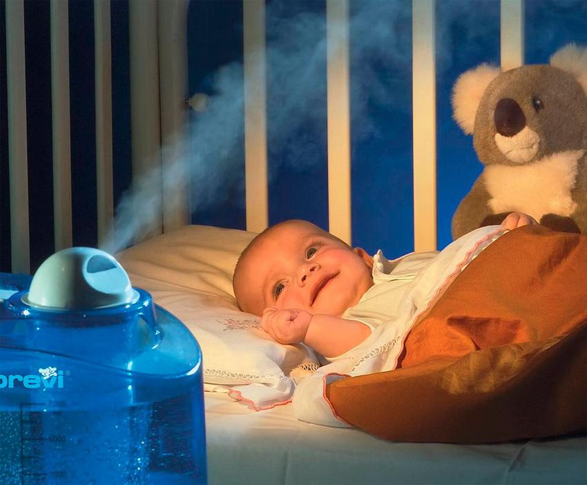 Оптимальная влажность воздуха в квартире для ребенка находится в пределах 50-60%