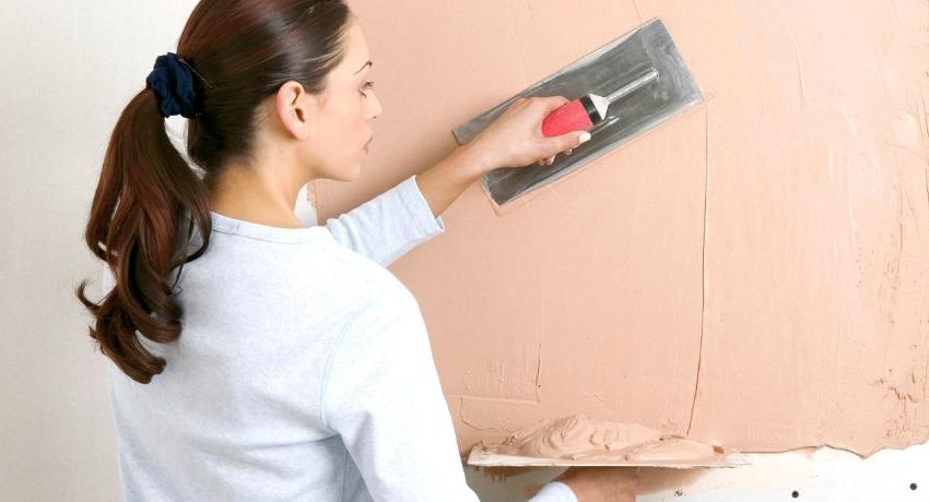 Фактурная краска для стен и особенности ее применения