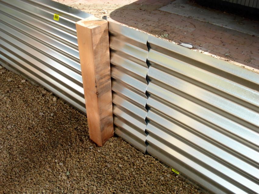 По высоте стальные грядки могут быть от 14 до 36 см
