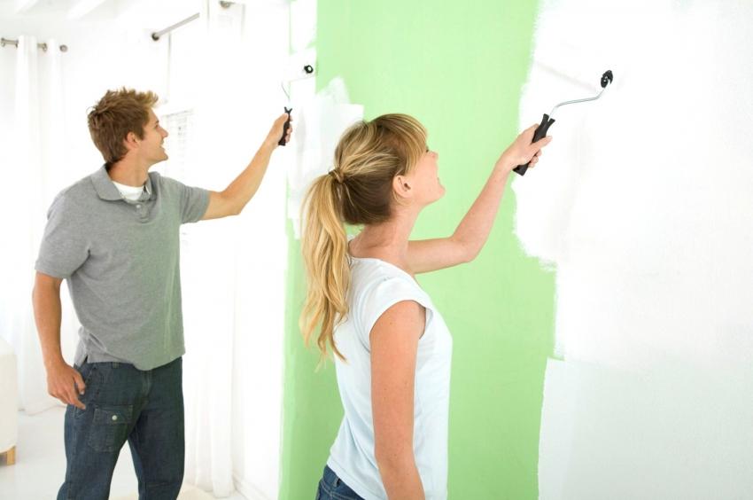 Правильно подобрав красящий состав, можно самостоятельно покрасить стены, без привлечения специалистов