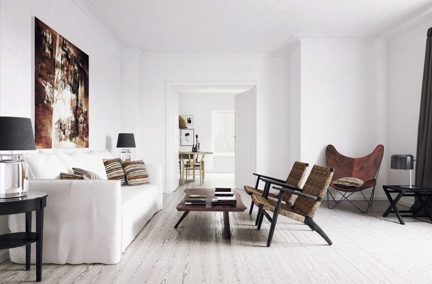 Если потолок и стены имеют одинаковую основу - их можно покрасить одним видом краски