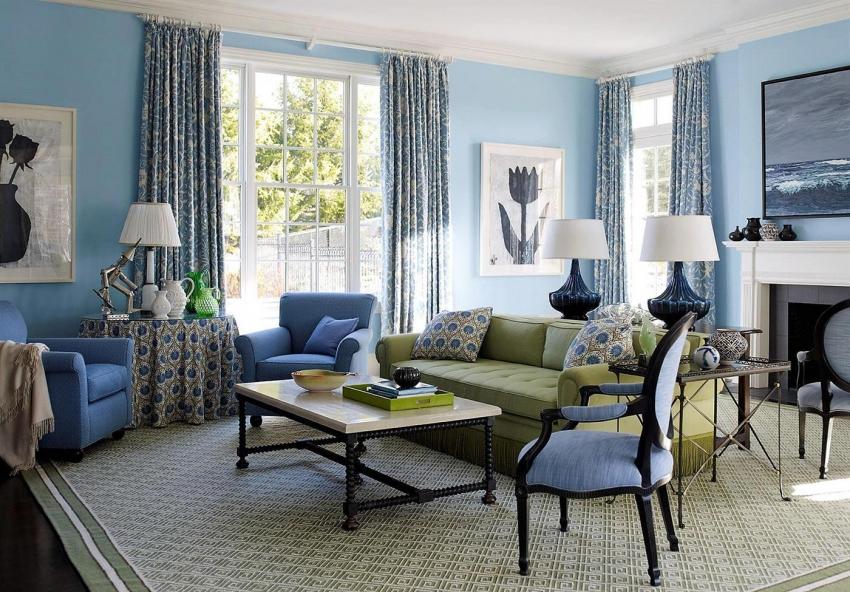 Цвет и текстура стен должны гармонировать с общим дизайном комнаты