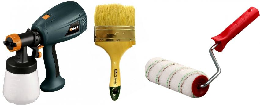Инструменты для покрытия стен различными типами красок
