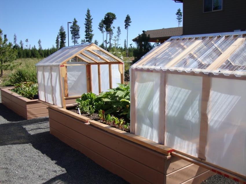 Высокие теплые грядки в теплицах очень эффективны для выращивания теплолюбивых овощных культур