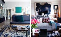 Глубокий синий цвет олицетворяет спокойствие и умиротворение, поэтому его стоит использовать для гостиной, но с осторожностью, поскольку переизбыток синего может сделать комнату мрачной и темной