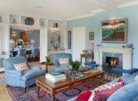 Используя голубой цвет в интерьере, стоит позаботиться о ярких акцентах, в противном случае можно получить »холодное» помещение
