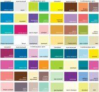 Пример основных цветовых схем сочетания и комбинации оттенков