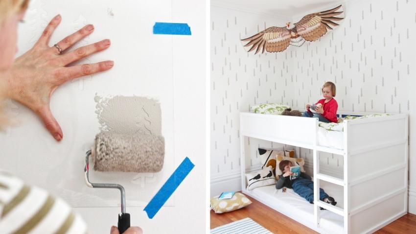 Использование трафаретов в детской - отличный способ быстро изменить дизайн комнаты, что актуально при раннем развитии ребенка
