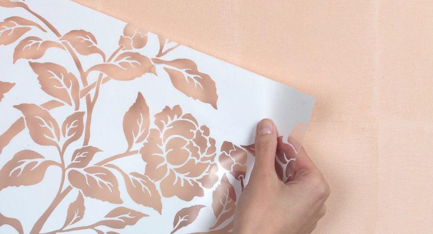 Трафареты для стен под покраску: креативное оформление интерьера
