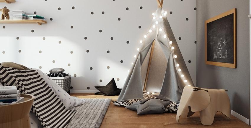С помощью простых трафаретов можно преобразить интерьер комнаты и сделать его интересней